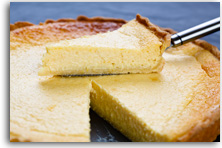 Lemon tart with lemon butterscotch sauce recipe