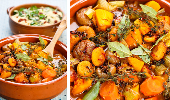 Sweet potato and winter vegetable tagine recipe